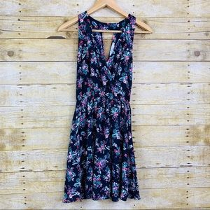 Lush Mini Dress Floral Navy Mulitcolor XS